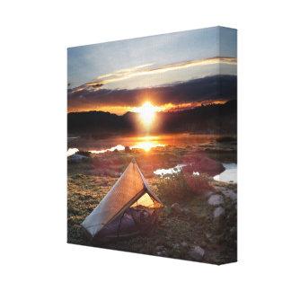 Salida del sol del campo del rastro de John Muir - Impresión En Lienzo