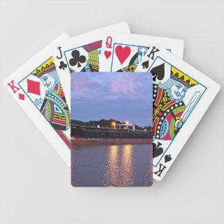 Salida del sol del Canal de Panamá Baraja Cartas De Poker