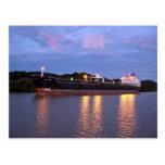 Salida del sol del Canal de Panamá Tarjetas Postales