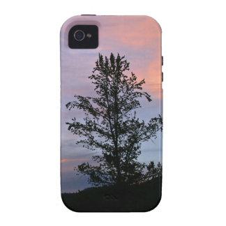 salida del sol del caso del iPhone 4G sobre Yeloow iPhone 4/4S Fundas