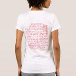 Salida del sol del coral del amor propio camiseta