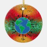 Salida del sol del ~ del Día de la Tierra Ornamentos De Reyes Magos