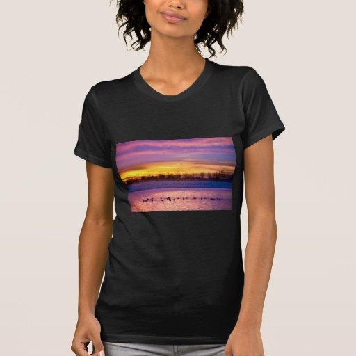 Salida del sol del depósito de noviembre Lagerman Camiseta