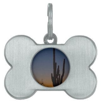 Salida del sol del desierto de Sonoran Placa De Mascota
