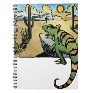 Salida del sol del desierto cuaderno