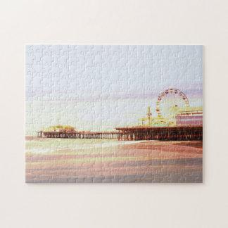 Salida del sol del embarcadero de Santa Mónica Rompecabeza Con Fotos