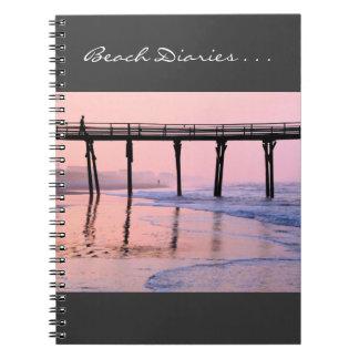 Salida del sol del embarcadero spiral notebook