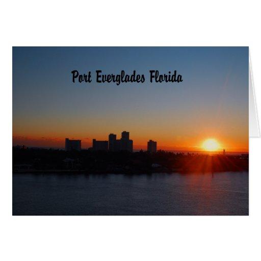 Salida del sol del Fort Lauderdale Tarjeta De Felicitación