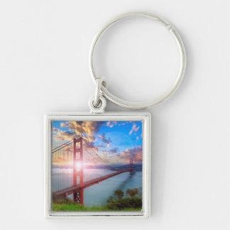 Salida del sol del Golden Gate Llavero Personalizado