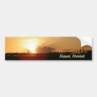 Salida del sol del Hawaiian de Kauai Pegatina Para Auto