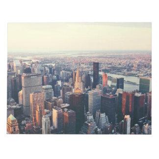 Salida del sol del horizonte de Nueva York Bloc De Papel