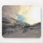 Salida del sol del invierno de Tignes Les Bois Tapetes De Ratón