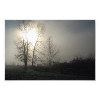 Salida del sol del invierno en la visión magnífica fotografías