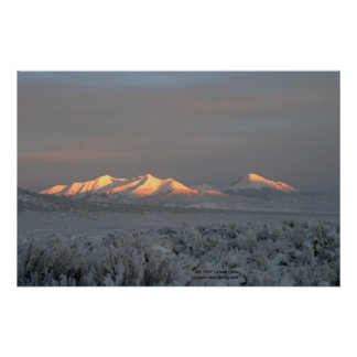 Salida del sol del invierno en Mt. Lindsey Impresiones