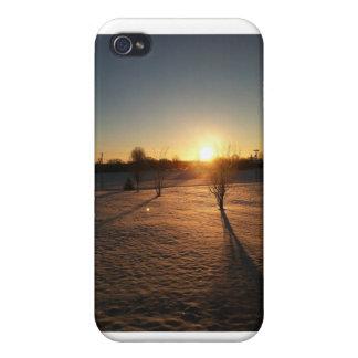 salida del sol del invierno iPhone 4 protector
