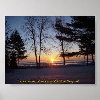 Salida del sol del invierno poster