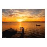 Salida del sol del lago arte con fotos