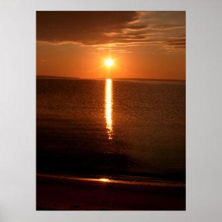 Salida del sol del lago Hurón Posters