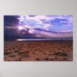 Salida del sol del lago pyramid de Nevada Poster