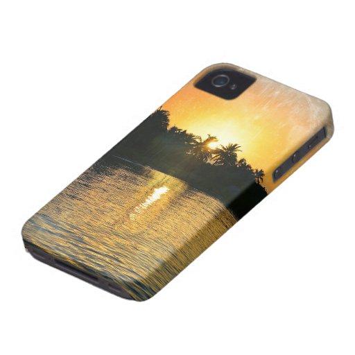 Salida del sol del mar iPhone 4 Case-Mate protector