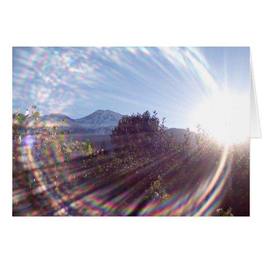 Salida del sol del Mt. Shasta Tarjeta