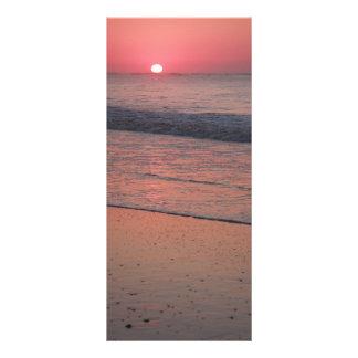 Salida del sol del océano tarjeta publicitaria personalizada
