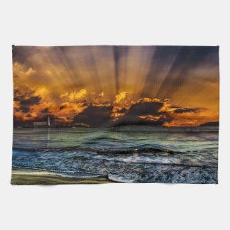 Salida del sol del océano toallas