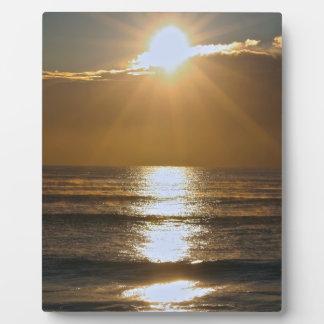 Salida del sol del Palm Beach Placa De Madera