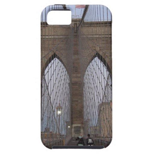 Salida del sol del puente de Brooklyn NYC el Noche iPhone 5 Protectores