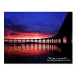 Salida del sol del puente de Coronado Tarjetas Postales