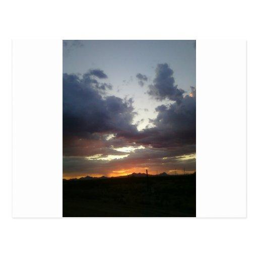 Salida del sol del Saguaro Postales