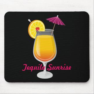 Salida del sol del Tequila Alfombrillas De Ratón