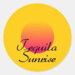 Salida del sol del Tequila Etiqueta Redonda
