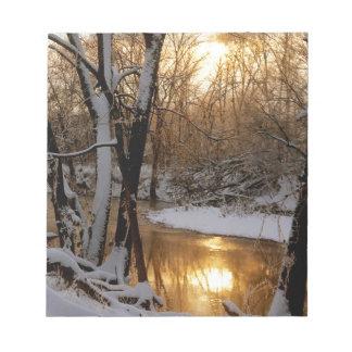Salida del sol el condado de Williamson del río de Blocs De Notas