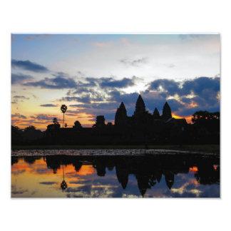 Salida del sol en Angkor Wat, Camboya - impresión Fotografías