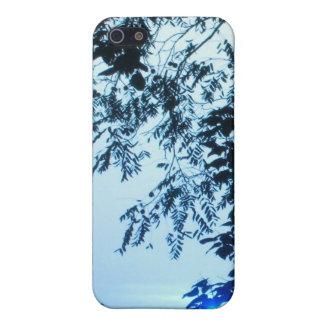 Salida del sol en caja azul del iPhone 4 iPhone 5 Cárcasas