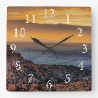 Salida del sol en el barranco de Bryce Relojes De Pared