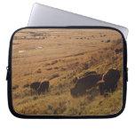 Salida del sol en el bisonte fundas ordendadores