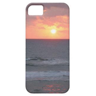 Salida del sol en el caso del iPhone de la playa iPhone 5 Fundas