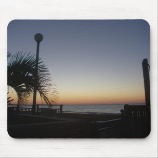 Salida del sol en el cojín de ratón de la playa tapetes de ratones