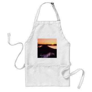 Salida del sol en el cráter Oregon de la isla del  Delantal