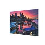 Salida del sol en el embarcadero 66 que mira abajo impresiones de lienzo