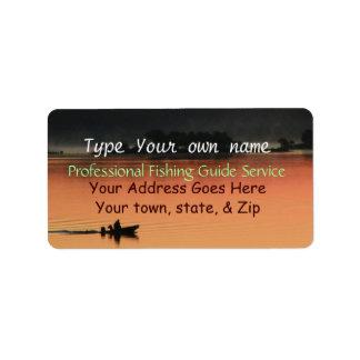 Salida del sol en el Etiqueta-personalizar del lag Etiquetas De Dirección