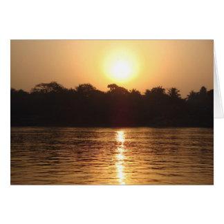 Salida del sol en el Ganges Tarjeta De Felicitación