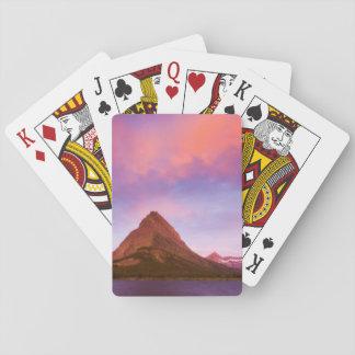 Salida del sol en el glaciar baraja de cartas