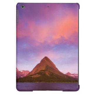 Salida del sol en el glaciar funda iPad air