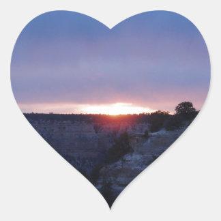 Salida del sol en el Gran Cañón Pegatina En Forma De Corazón