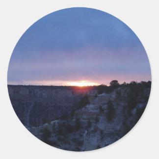 Salida del sol en el Gran Cañón Pegatina Redonda