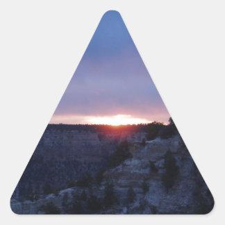 Salida del sol en el Gran Cañón Pegatina Triangular