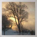 Salida del sol en el lago Lemán Impresiones